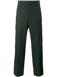 John Lawrence Sullivan Buttoned Tailored Trousers Green