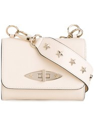 Red Valentino Star Studded Shoulder Bag Women Calf Leather Metal One Size Nude Neutrals