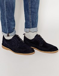 Selected Homme Royce Desert Brogue Shoes Blue