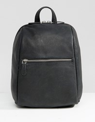 New Look Mini Leather Backpack Black