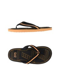 Emporio Armani Ea7 Thong Sandals Black