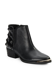 Elliott Lucca Rosa Studded Leather Ankle Boots Black