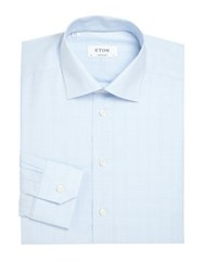 Eton Of Sweden Contemporary Fit Plaid Dress Shirt Blue