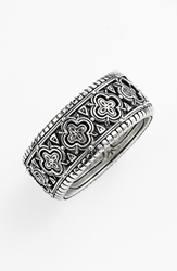 Konstantino 'Classics' Clover Etched Ring Silver