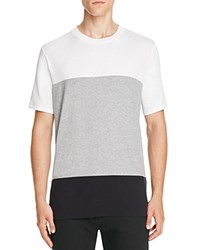 Rag And Bone Precision Color Block Tee White Grey