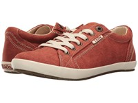 Taos Star Burnt Orange Washed Canvas Women's Lace Up Casual Shoes Brown