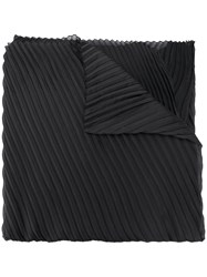 Emporio Armani Pleated Scarf Black