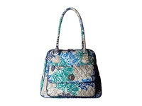 Vera Bradley Turnlock Satchel Santiago Satchel Handbags Blue