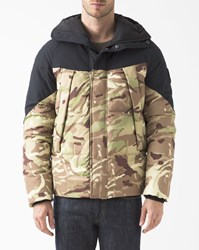 Element Black Anthracite And Beige Camouflage Black Sky Puffa Jacket