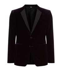 Burberry London Velvet Tuxedo Jacket Male Red