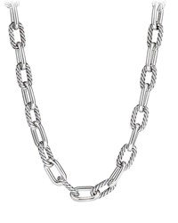 David Yurman Madison Chain 13.5Mm Large Link Necklace 20 Silver