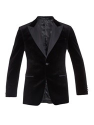 Gieves And Hawkes Peak Lapel Velvet Blazer