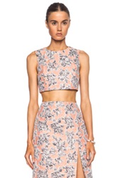 Thakoon Cropped Shell Tkoo Ws8iscose Blend Top In Orange Floral