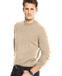 Club Room Cashmere Crew Neck Sweater Oatmeal Heather