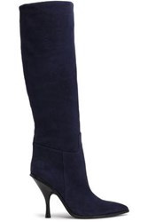 Sigerson Morrison Suede Knee Boots Navy