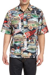 Reyn Spooner Houston Astros Classic Fit Camp Shirt Scenic