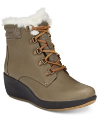 Sperry Women's Luca Peak Cold Weather Lace Up Wedge Ankle Boots Women's Shoes Tan