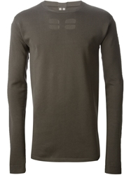 Rick Owens Cut Out Sweater Grey