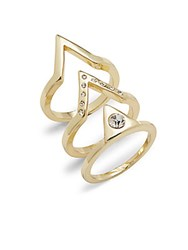 Jules Smith Designs Cubic Zirconia Geometric Ring Gold