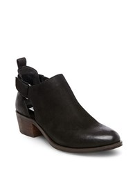 Steve Madden Korbyn Cutout Leather Booties Black