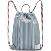 Thom Browne Blue Drawcord Bag