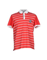 Cooperativa Pescatori Posillipo Topwear Polo Shirts Men Red