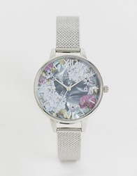 Olivia Burton Ob16us11 Under The Sea Mesh Watch With Faux Mother Of Pearl Silver