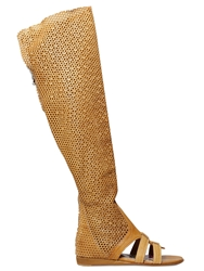 El Vaquero 20Mm Perforated Suede Boots Camel