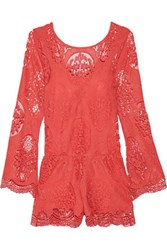 Tart Collections Shaelynn Lace Playsuit Coral