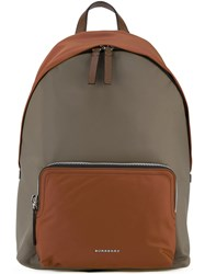 Burberry House Check Strap Backpack Brown
