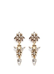 Erickson Beamon 'Born Again' Glass Pearl Crystal Drop Earrings White