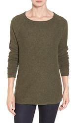 Nordstrom Women's Collection Cashmere A Line Pullover Green Vineyard Heather