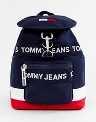 Tommy Jeans Logo Back Pack Corp Mix Multi