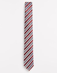 Selected Homme Stripe Tie Red