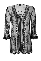 Anna Sui Sequined Sheer Cardigan