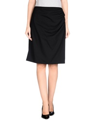 Scrupoli Knee Length Skirts Black