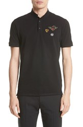 The Kooples Men's Applique Patches Band Collar Polo