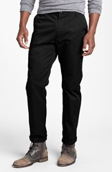 Men's Rvca 'The Weekend' Slim Straight Leg Chinos Black