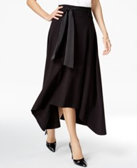 Jag Pull On Ribbon Tie Asymmetrical Hem Skirt Black