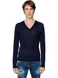Dsquared V Neck Fine Wool Knit Sweater