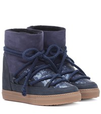Inuikii Sneaker Sequin Ankle Boots Blue