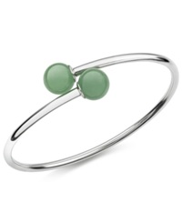 Macy's Dyed Jade Bangle Bracelet In Sterling Silver 10Mm