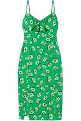 Vix Swimwear Teresa Cutout Floral Print Voile Dress Green
