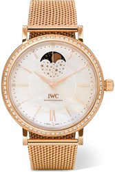 Iwc Schaffhausen Portofino Automatic Moon Phase 37 18 Karat Red Gold