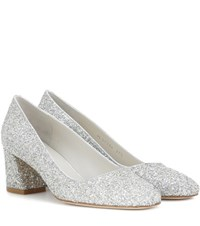 Stuart Weitzman Exclusive To Mytheresa.Com Marymid Fore Icon Pumps Silver