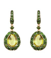 Annoushka Dusty Diamonds Olive Quartz Earrings Female