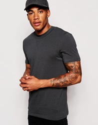 Asos Muscle Fit T Shirt With Mini Turtle Neck And Stretch Jetset