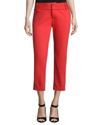 Alice Olivia Cadence Cropped Cigarette Trousers Bright Red