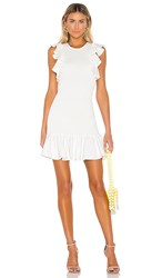 C Meo Collective Expired Mini Dress In White. Ivory