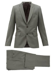 Paul Smith Soho Single Breasted Wool Blend Suit Green